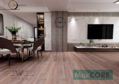 Pisos Vinílicos Sistema Click - Max Core - SPC - Linea Antique - Makalu 5004