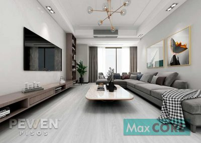 Pisos Vinílicos Sistema Click - Max Core - SPC - Linea Home - Roble Gris 8001